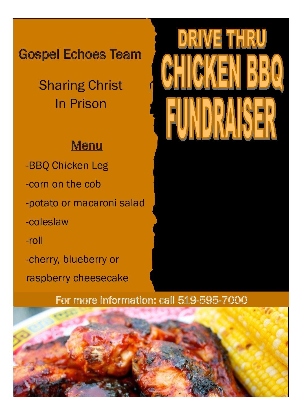 Drive Thru Chicken BBQ Fundraiser